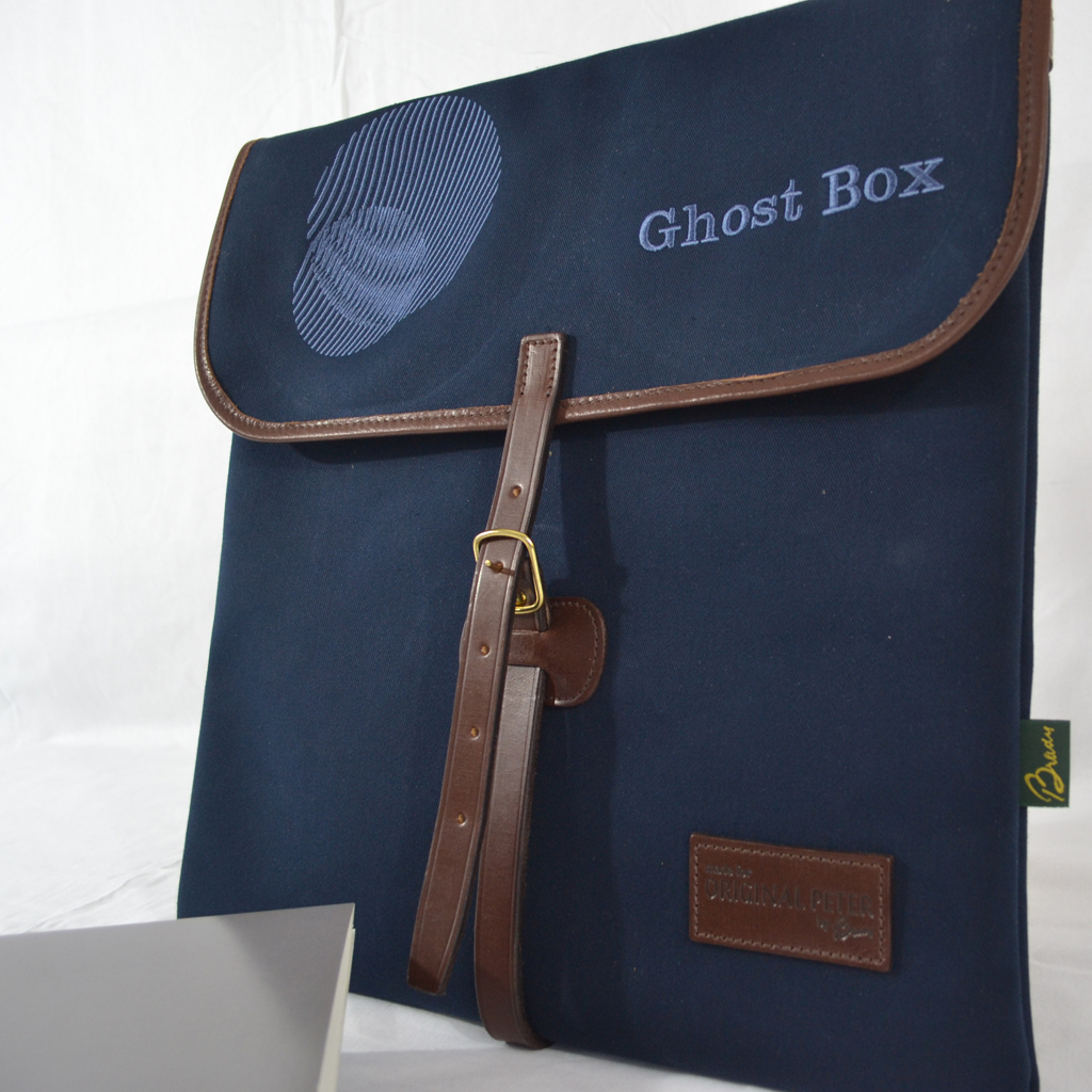 Original Peter Limited Edition Ghost Box Classic LP Record Hunting Bag (Navy), front view