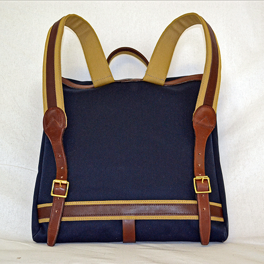 Original Peter Record Rucksack (Navy), back view