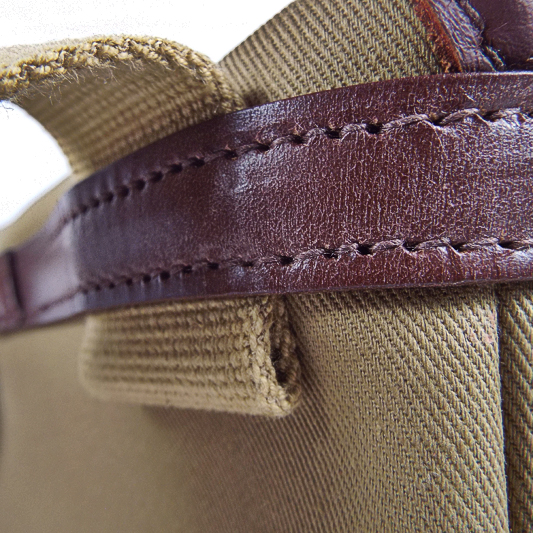 Original Peter military specification webbing detail showing high quality hand made in England manufacturing techniques.